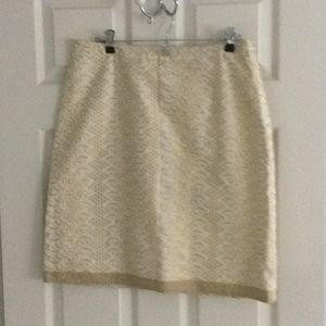 Gold and cream skirt